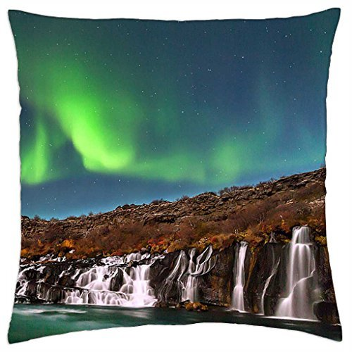 aurora-borealis-over-hraunfossar-iceland-throw-pillow-cover-case-18