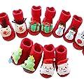 Baby Socken Weihnachten Winter Baumwolle Söckchen,Sunday Neugeborene Kleinkind Jungen Mädchen Krippeschuhe Unisex Dicke Sock Krabbelschuhe