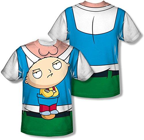 Family Guy - Herren Stewie Träger (vorne / hinten Print) T-Shirt, Small, White (Stewie T-shirt Männer)
