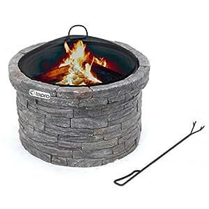 feuerstelle und heizer f r garten und terrasse aus stein garten. Black Bedroom Furniture Sets. Home Design Ideas