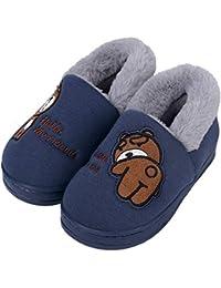 e165c29ad Lindo Unisex Niños Zapatillas de Estar por Casa Invierno Zapatillas  Interior Casa Caliente Zapatos Suave Algodón