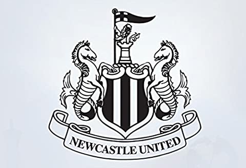 Newcastle United Football Club One Colour Crest Wall Sticker Set Official Merchandise - Car Decal Football Vinyl Poster Print (60cm, Black)