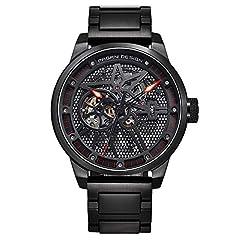 Idea Regalo - Pagani Design Mens Classic orologio meccanico impermeabile Cinturino acciaio inossidabile orologio automatico