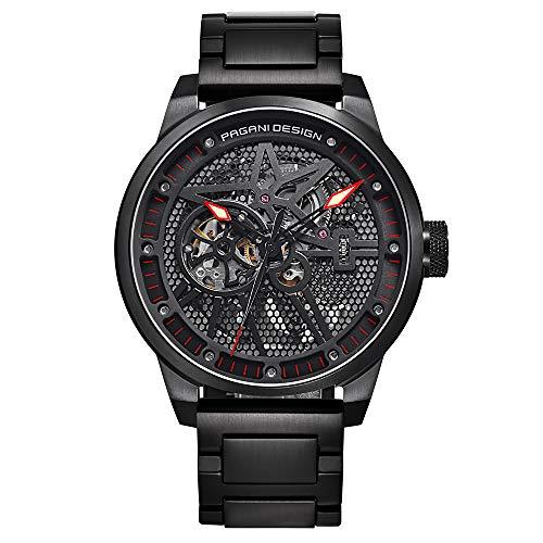 Pagani Design Mens Classic orologio meccanico impermeabile Cinturino...