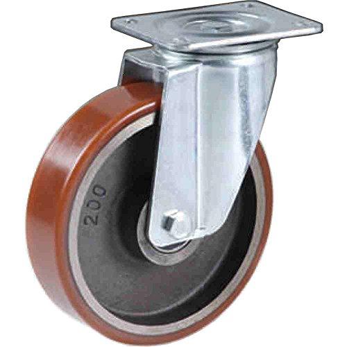 Ruota in Ghisa rivestita in Poliuretano Diametro mm.150 Portata Kg.450
