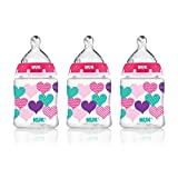 NUK 14060 Hearts Baby Bottle with Perfect Fit Nipple, 5 Ounces, by NUK