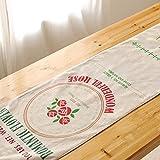 aihometm Vintage de doble capa Camino de mesa (Lino Mantel Mesa de comedor diseño con Americano rural scenery Landscape