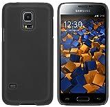 mumbi Schutzhülle für Samsung Galaxy S5 Mini Hülle (harte Rückseite) matt schwarz