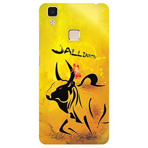 URBAN KOLOURS Original Designer Printed Hard Case Back Cover for Vivo V3 Max (Jallikattu)