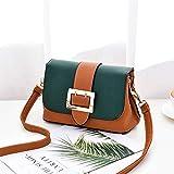 XMY Borsa a Tracolla Fibbia Piccola Borsa Quadrata Borse Moda Donna Tracolla Messenger Bag Piccola Borsa, Copertura Verde Suolo Fondo Giallo