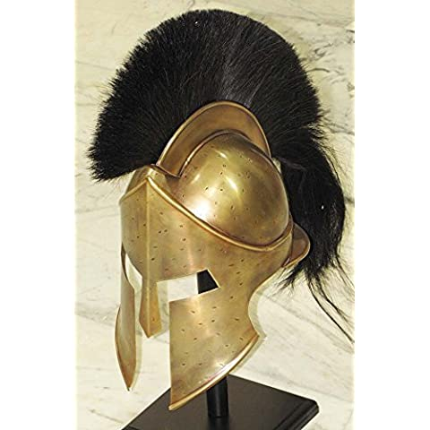 MEDIEVAL SPARTAN HELMET KING LEONIDAS 300 MOVIE HELMET REPLICA - ROLE PLAY HELM by Shiv Shakti Enterprises - Elmo Greco