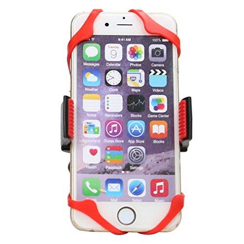 QHJ Fahrrad Handyhalterung Für Alle Smartphones,Rostfrei Und Bruchfest,Handyhalter Mit 360 Drehen Für 2.17-3.54in Handy (Rot)