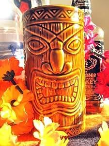 """Hawaiian 6"""" Ceramic Tiki Mug 'Lucky Tiki'"""