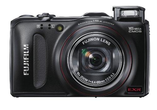 Fujifilm FINEPIX F550EXR Digitalkamera (16 Megapixel, 15-fach opt. Zoom, 7,6 cm (3 Zoll) Display, bildstabilisiert, GPS-Funktion) schwarz