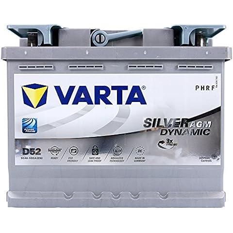 VARTA Silver Dynamic AGM - Batería de Coche D52 60Ah 12V 680A/EN