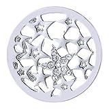 Morella Damen SMALL Coin 23 mm Sternenhimmel Silber