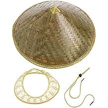 Funnyrunstore China Oriental Coolie Sombrero para el Sol Sombrero de Paja  de bambú de ala Turismo 2691aec13f7