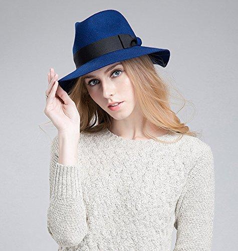 Decentron - Chapeau - Solid - Femme Bleu Marine