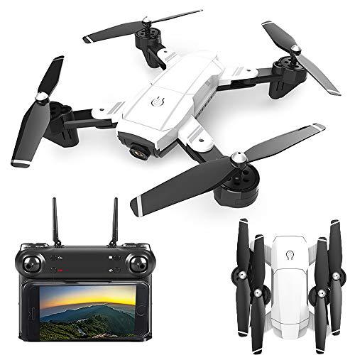 HAHA Drone, Drone con Cámara 1080P HD, Quadcopter WiFi,Avión Radiocontrol con Follow Me, 120º Gran Angular, Control Remoto, Altitude Hold, Modo Sin Cabeza