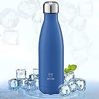 Botella Deportiva de Aluminio Inoxidable y Doble Pared con Aislamiento al Vacío - Color Azul
