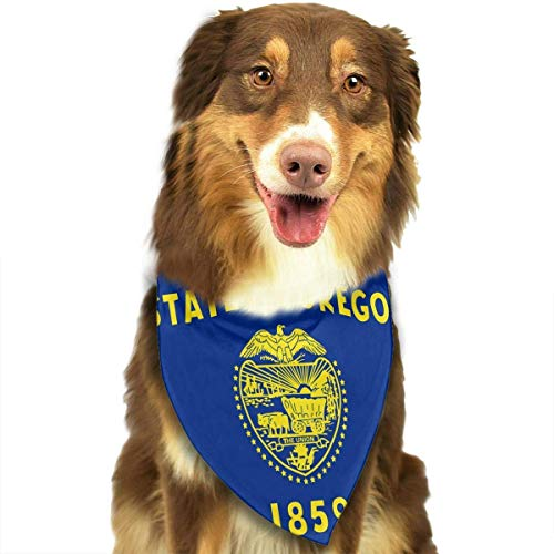 Gxdchfj Pet Scarf Flag of Oregon Dog Bandana Collars Triangle Neckerchief Bibs Scarfs Accessories Pet Saliva Towel (Superman Dog Kostüm Große)