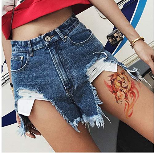 HXMAN Kleine Arm Temporäre Tattoo Aufkleber Gefälschte Tatoo Löwe Flash Tatto Wasserdichte Kleine Körper Kunst Männer Frauen(2 Pack) AAA-001