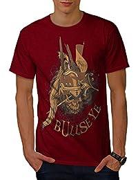 Wellcoda Bullseye War Death Skull Men S-5XL T-Shirt