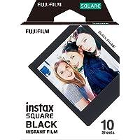 Fujifilm Instax SQUARE Black Frame - Película fotográfica instantánea 10 fotos, color negro