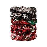 LoveLeiter Mode Velvet Elastische Haargummis,Frauen Weihnachten Kopfbedeckung Gummi String Haar Krawatte Spule Haarleiste Mädchen Damen Haar Zubehör Ringe Haargummibänder Armband (6/24Stück)