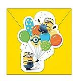 Procos Minions Ballon Party Einladungskarten 6Stk