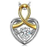Cadeau Noël Dancing Heart Magie de l'Amour Collier Femme Argent 925 Bijoux cadeaux d'anniversaire saint valentin fete des meres mariage