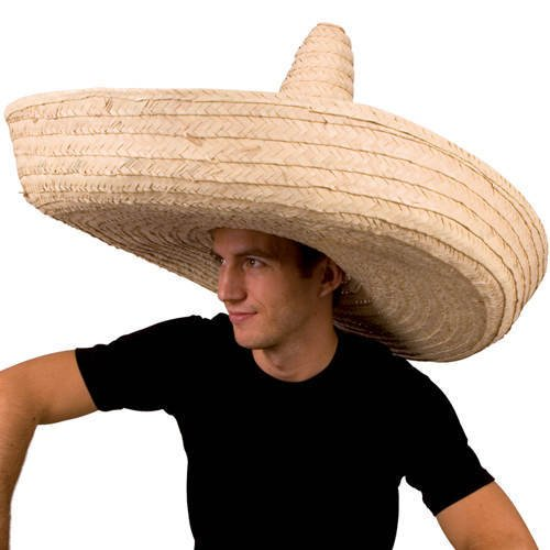 Hut Riesen-Sombrero, Durchmesser ca. 100 cm, natur