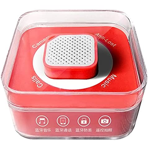 Altavoces Bluetooth Wireless ultra-pequeño mini de gran volumen de la cámara de Bluetooth del teléfono Anti-perdida ( Color : Rojo )