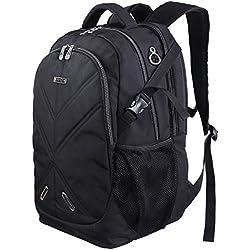 """Lifewit 17,3"""" Sac à Dos Ordinateur Portable Imperméable Anti-Choc Laptop Backpack Rucksack avec Couverture de Pluie Unisexe Femme Homme pour Randonnée Voyage Scolaire Bureau Trekking"""