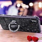 Caler Cover Compatibile con Huawei Honor 8X/View 10 Lite Custodia Protettiva in Vetro Temperato 9H + Carino Diamantato Paraurti Strass con Anello Kickstand Case Morbido 3D Vogue Ultra Chic Bella
