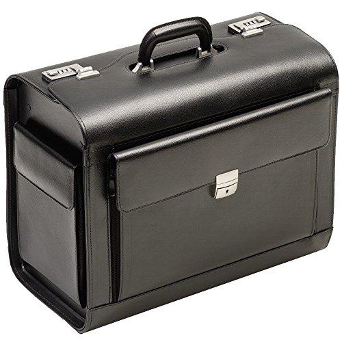 c95a2ecfca BORSE PILOTA valigia pilota in vera pelle nero XL