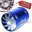 FidgetGear Turbo-Turbonator für Lufteinlass mit Zwei Lüftern, passend für Mazda, Blau