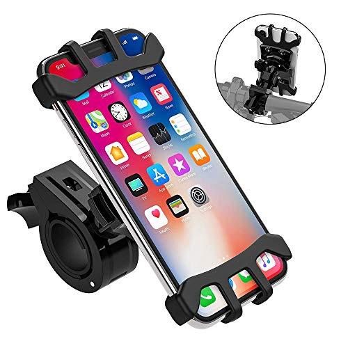 TOTOBAY Porta Cellulare Bici Supporto Bici Smartphone Manubrio Universale Bici Moto con 360°di Rotazione Antivibrazione Silicone Regolabile per iPhone Samsung da 4,0'-6,5' Pollici e Altri Dispositivi
