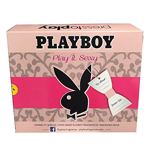 Playboy Play it Sexy Geschenkset (Eau de Toilette 40ml, Shower Gel 250ml, Deodorant Body Spray 150ml)
