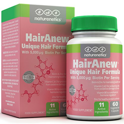 HairAnew-Focused-Hair-Formula-For-Women-For-Stronger-Thicker-Healthier-Hair-5000-Biotin-PLUS-Key-Hair-Vitamins-Minerals-Nutrients-Independently-Tested-Vegan-Gluten-Free-Non-GMO