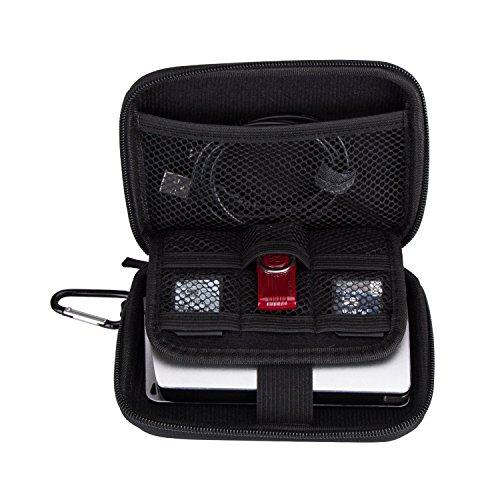 Funda de Disco Duro (2.5'), AGPTEK Estuche con Cremallera para Disco Duro Externo, Pasaporte, Reproductores Mp3, Micro SD tarjeta ect.. ((Tamaño interno: 12.5*9*3CM), Negro.