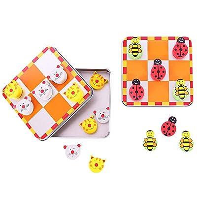 Bigjigs Toys Le morpion (chat et souris / coccinelle et abeille)