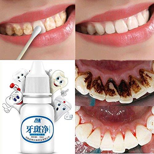 Einfache Zahnaufhellung, Natürliche Zahnreinigung Whitening Liquid,Zahnweiß-Pulver Wasser, Plaque entfernen zu Rauchen Flecken Tee Flecken Zahnpflege,Hygienereinigung, 10 ML (Weiß) -