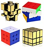 #7: KHALIFA COMBO Of 3x3x3 Speed Rubik's Magic Cube + Golden Mirror Magic Cube ~ Fast & Smooth ~ No Stuck ~ Stickerless ~ Highly Recommended