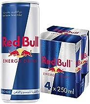 Red Bull Regular Energy Drink - 250 ml (Pack of 4)