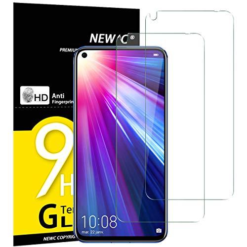 NEW'C Verre Trempé pour Honor View 20 / Huawei Nova 4, [Pack de 2] Film Protection écran - Anti Rayures - sans Bulles d'air -Ultra Résistant (0,33mm HD Ultra Transparent) Dureté 9H Glass