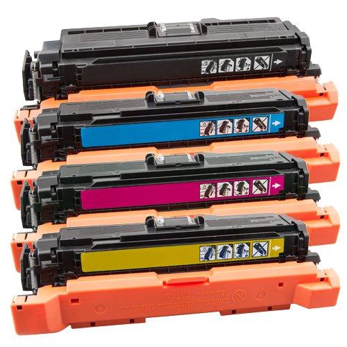 Tito-Express PlatinumSerie Farbset 4 Toner-Patronen XXL für HP CE400X - CE403A Laserjet Enterprise 500 Color M551DN M551N M551XH - Hp M551n-drucker Laserjet Color