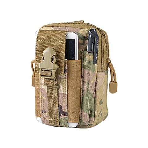 alaix tactique Molle Pochette EDC Gadget utilitaire Ceinture de sécurité multifonction sac banane, Homme, Sport-f05-molle Pouch-cp Camo-eu, CP camo