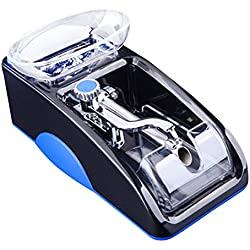 Risingmed Tubeuse Électrique Automatique, Machine à Tuber les Cigarettes Cadeau Classic Noël Anniversaire pour Homme Père(Bleu)
