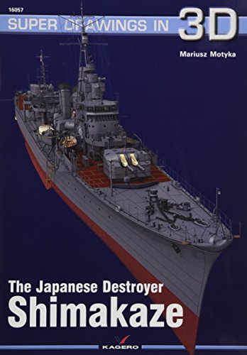 Japanese Destroyer Shimakaze (Super Drawings in 3D) por Mariusz Motyka